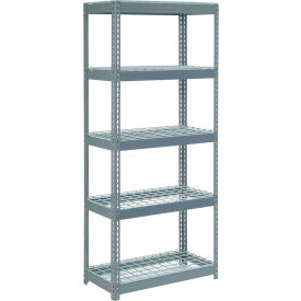 "255606 Extra Heavy Duty Shelving 36""W x 24""D x 96""H With 6 Shelves, Wire Deck"