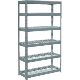 "255727 Extra Heavy Duty Shelving 48""W x 24""D x 72""H With 6 Shelves, Wire Deck"
