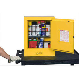 "justrite mini flammable cabinet 17""x8""x22"" yellow Justrite Mini Flammable Cabinet 17""x8""x22"" Yellow"