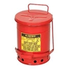 09100 Justrite 6 Gallon Oily Waste Can, Red - 09100
