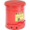 09300 Justrite 10 Gallon Oily Waste Can, Red - 09300