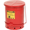 09500 Justrite 14 Gallon Oily Waste Can, Red - 09500