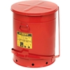 09700 Justrite 21 Gallon Oily Waste Can, Red - 09700