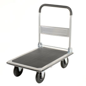 "168134 Folding Platform Truck with 35 x 23 Solid Steel Deck 8"" Pneumatic Wheels 600 Lb. Cap."
