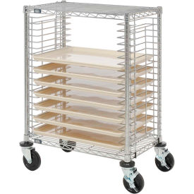 nexel® side load wire tray cart with 19 tray capacity Nexel® Side Load Wire Tray Cart with 19 Tray Capacity