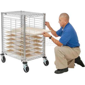 nexel® end load wire tray cart with 19 tray capacity Nexel® End Load Wire Tray Cart with 19 Tray Capacity