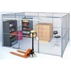 102221 Wire Mesh Partition Security Room 10x10x10 with Roof - 2 Sides