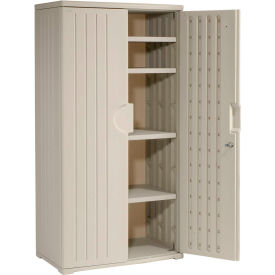 92573 Plastic Storage Cabinet 36x22x72 - Light Gray