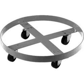 233883 Stainless Steel Drum Dolly for 55 Gallon Drum - 800 Lb. Capacity