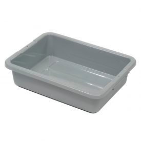 "FG334992GRAY Rubbermaid 3349-92 Bus Utility Tote Box Without Lid 20""L x 15""W x 5""H"