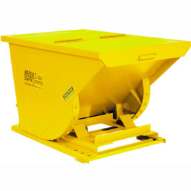 15099YL Wright 15099 1.5 Cu Yd Yellow HD Self Dumping Forklift Hopper with Heavy Gauge Base