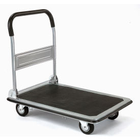 "241374 Folding Platform Truck with 35 x 23 Solid Steel Deck 5"" Rubber Wheels 600 Lb. Capacity"