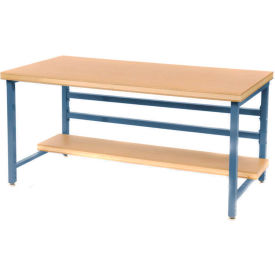 "DSB3063126-BL Stationary 72"" X 30"" Shop Top Square Edge Workbench - Blue"