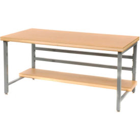 "DSB3663126-GY Stationary 72"" X 36"" Shop Top Square Edge Workbench - Gray"