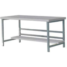 "DSB3663165-GY Stationary 72"" X 36"" Plastic Laminate Square Edge Workbench - Gray"