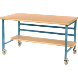 "DSM3053426-BL Mobile 60"" X 30"" Shop Top Workbench - Blue"