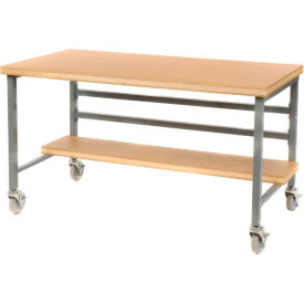 "DSM3663426-GY Mobile 72"" X 36"" Shop Top Workbench - Gray"