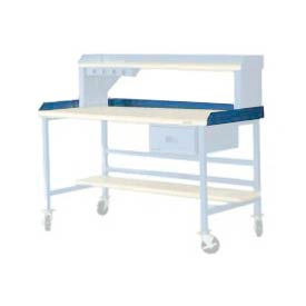 "BS305-BL 60""W X 30""D Back & End Stops - Blue"