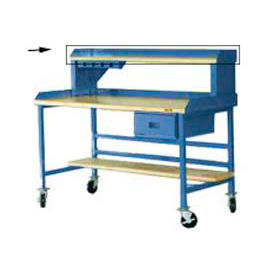 "BS126-BL Back And End Stops For 72"" Riser - Blue"
