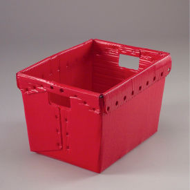 1577R Corrugated Plastic Totes - Postal Nesting- Without Lid 18-1/2x13-1/4x12 Red