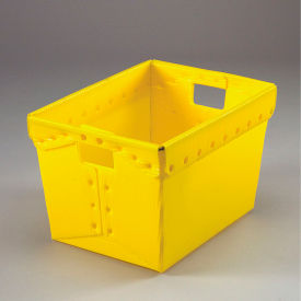 1577Y Corrugated Plastic Totes - Postal Nesting- Without Lid 18-1/2x13-1/4x12 Yellow
