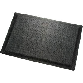 "276016BK Diamond Plate Ergonomic Mat 9/16"" Thick 24""X36"", Black"