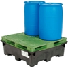 298438 Global Industrial; Spill Containment Sump with Plastic Drum Pallet