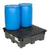 298442 Global Industrial; 4 Drum Spill Containment Sump with Plastic Deck