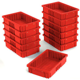 "DG92035RD Plastic Dividable Grid Container - DG92035,16-1/2""L x 10-7/8""W x 3-1/2""H, Red"