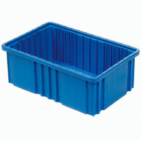 "DG93080BL Plastic Dividable Grid Container - DG93080, 22-1/2""L x 17-1/2""W x 8""H, Blue"