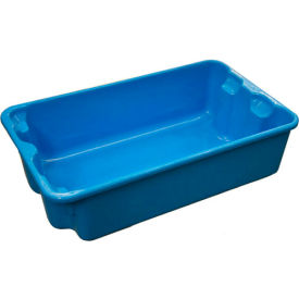 "780208-5268 Molded Fiberglass Nest and Stack Tote 780208 - 17-7/8"" x10""-5/8"" x 5""  Blue"