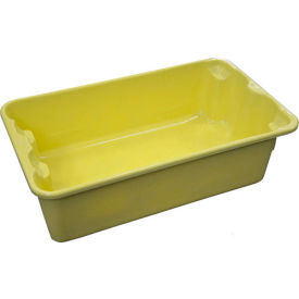 "780208-5126 Molded Fiberglass Nest and Stack Tote 780208 - 17-7/8"" x10""-5/8"" x 5"" Yellow"