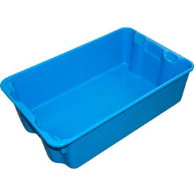 "780308-5268 Molded Fiberglass Nest and Stack Tote 780308 - 19-3/4"" x 12-1/2"" x 6"" Blue"