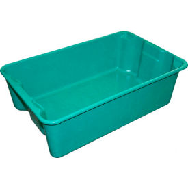 "780308-5170 Molded Fiberglass Nest and Stack Tote 780308 - 19-3/4"" x 12-1/2"" x 6"" Green"