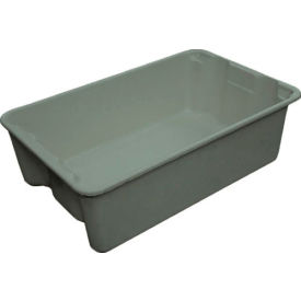 "7803085172 Molded Fiberglass Toteline Nest and Stack Tote 780308 - 19-3/4"" x 12-1/2"" x 6"" Gray"