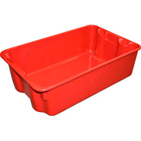 "780308-5280 Molded Fiberglass Nest and Stack Tote 780308 - 19-3/4"" x 12-1/2"" x 6"" Red"
