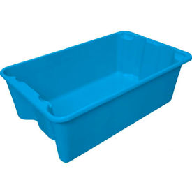 "780508-5268 Molded Fiberglass Nest and Stack Tote 780508 - 24-1/4"" x 14-3/4"" x 8"" Blue"
