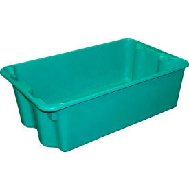 "780508-5170 Molded Fiberglass Nest and Stack Tote 780508 - 24-1/4"" x 14-3/4"" x 8"" Green"