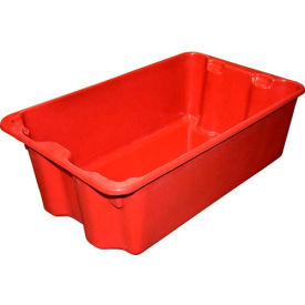 "780508-5280 Molded Fiberglass Nest and Stack Tote 780508 - 24-1/4"" x 14-3/4"" x 8"" Red"