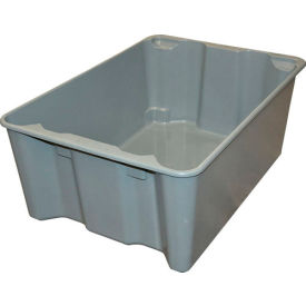 "7806085172 Molded Fiberglass Toteline Nest and Stack Tote 780608 - 25-1/4"" x 18"" x10"", Gray"