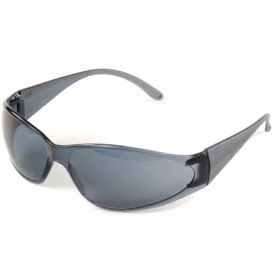 15280 Boas; Eyewear Protection Safety Glasses - Black Frame, Smoke Lens