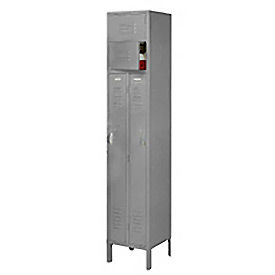 6501V-1028-KD Penco 6501V-1028-KD VanGuard Two Person Locker 15x15x72 Ready To Assembled 1 Wide Gray