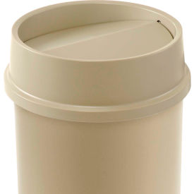 FG267200BEIG Lid For 11 & 22 Gallon Round Rubbermaid Waste Receptacles - Beige