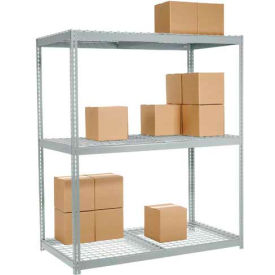 "502484 Wide Span Rack 96""W x 36""D x 96""H With 3 Shelves Wire Deck 1100 Lb Capacity Per Level"