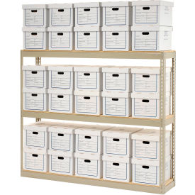 "516134 Record Storage Open With Boxes 72""W x 15""D x 60""H"