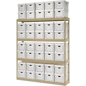 "516136 Record Storage Open Witih Boxes 72""W x 15""D x 84""H"