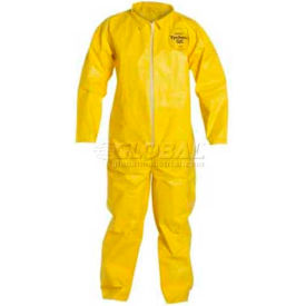 QC120SYLLG001200 Dupont;Tychem; QC Disposable Coverall with Open Ended Wrists/Ankles, L, 12/Case