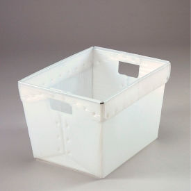 1577N Corrugated Plastic Totes - Postal Nesting- Without Lid 18-1/2x13-1/4x12 Natural