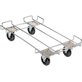 "38136-00 Wire Rack Accessory-36 x 20 Dolly Base With 5"" Poly Swivel Casters For 36"""" Wide Bins"