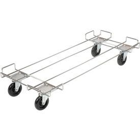 "38148-00 Wire Rack Accessory-48 x 20 Dolly Base With 5"" Poly Swivel Casters For 48""Wide Bins"